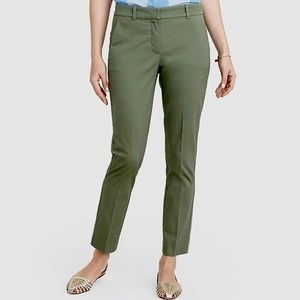 J. Crew Green Khaki Chino Skimmer Pants 4